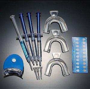 Kit Super de Clareamento Dental Laser - Home Kit Whitening Gel com 44% Peróxido de Carbamida
