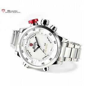 292d62d63cd Relógio Shark - Modelos Tubarão Branco SH104   Preto SH105