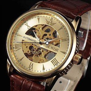 Relógio esqueleto automático |marca Sewor