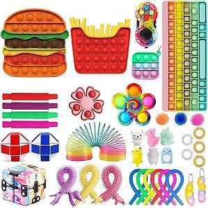 Pop it Kit Brinquedos Sensoriais Anti Stress