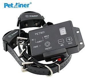 Cerca Eletrônica Invisível PetAiner recarregável - Para adestramento de Cães C/ 2 Coleiras