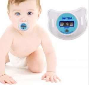 Chupeta termômetro digital