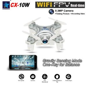 Mini Drone CX-10W Cheerson WiFi de bolso com câmera 0.3MP