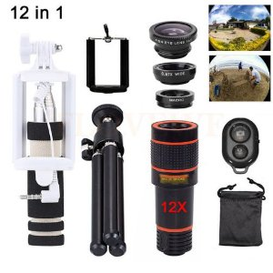Kit 12 em 1 Lente Zoom Universal 12X