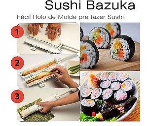 Sushi Bazuca * Fácil Rolo de Molde para fazer Sushi