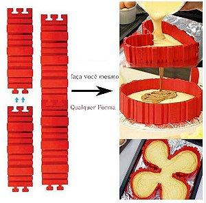 Formas de Silicone Pré-Moldadas para Bolos, Tortas, panquecas e afins..
