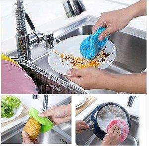 Esponja Mágica / Esponja Lava-louças de Silicone Antibacteriana Multiuso