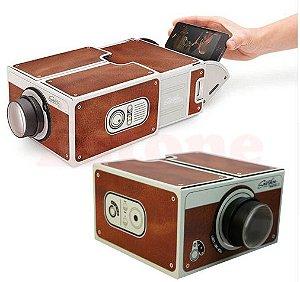 Smartphone Projector 2.0 Caixa Papelão Portátil Celular Projetor