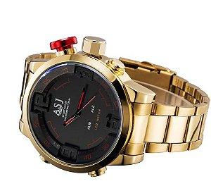 Relógio ASJ Gold Led