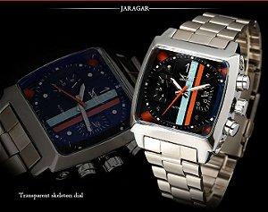 aa84bbe93b3 Relógio Automático Jaragar Listras Luxo