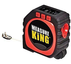 Trena Digital a Laser - Super Fita Métrica 3 em 1- Medidor de distância King