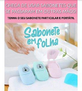 Sabonete em Folha portátil - 50 unidades
