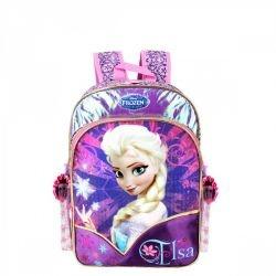 Mochila Frozen Elsa 16, Roxo, G  Dermiwil - 60209
