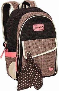 Mochila Notebook Love Kiss Marrom Tnbolsas 13020 TN BOLSAS 13020