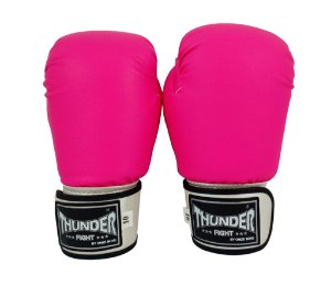 LUVA DE BOXE THUNDER FIGHT 10 OZ PU-INJETADA PINK