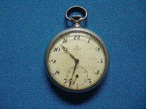 Relógio De Bolso Omega Antigo Raridade - Funcionando