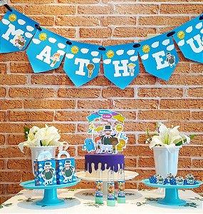 Kit Festa em casa Mundo Bita Azul  * Leia a Descrição*