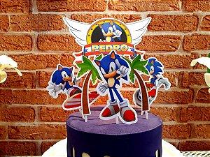 Topo de Bolo - Sonic * Leia a Descrição*