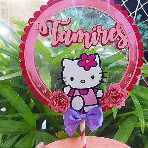 Topo de Bolo em camadas - Hello Kitty * Leia a Descrição*