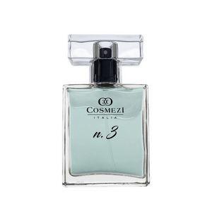 Perfume N.3 Cosmezi Itália 50ml Framboesa, Damasco, Jasmim, Muguet, Algodão Doce e baunilha