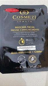Máscara Facial Previne o envelhecimento- ACIDO HIALURÔNICO+ CAVIAR