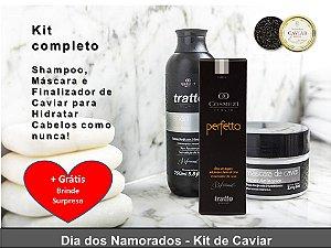 Kit Completo Manutenção de Caviar Aminoplex Repair - Shampoo, Máscara e Finalizador