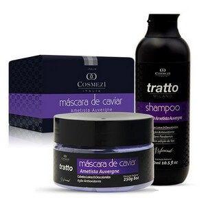 Kit de Tratamento de Caviar Cosmezi Itália para Cabelos Loiros e Descoloridos - Caviar e Ametista