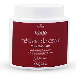 Máscara de Caviar Rubi Profissional 500g - Hidratação com Fixação para Cabelos Coloridos e Tonalizados