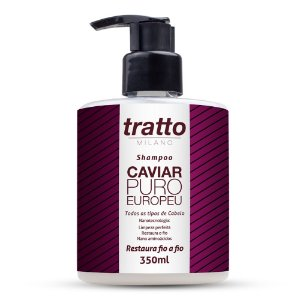 Shampoo Caviar Puro Europeu - 350ml - Restauração para Todos os Tipos de Cabelo
