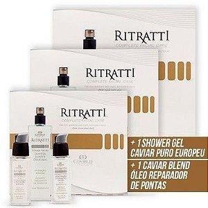 Ritratti - 3 Kit Ritratti + 1 Shower Gel Caviar Puro Europeu + 1 Caviar Blend Óleo Reparador de Pontas