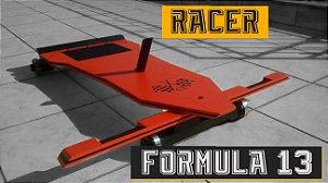 Carrinhos de Rolimã Especiais Fórmula 13 - Modelo Racer Laranja