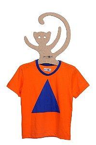 T-Shirt Fred Laranja Triângulo Azul Bic