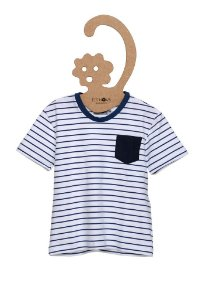 T-Shirt Leo Off White Bolso Contrastante