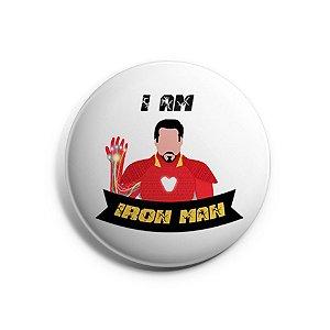 Botton Homem de Ferro - Iron Man