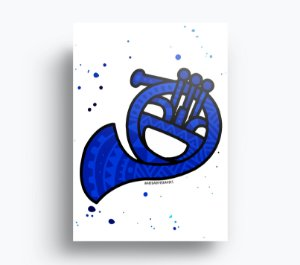 Quadro How I Met Your Mother - Trompa Azul