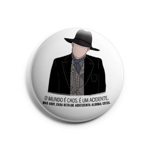 Botton Homem de Preto - Westworld