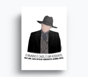 Quadro Homem de Preto - Westworld