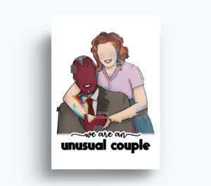 Quadro Wandavision - Unusual Couple