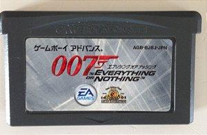 Jogo 007 Evereything or Nothing [Japonês] - Game Boy Advanced - Seminovo