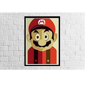 Pôster Emoldurado Mario Rosto 2 - Meu Game Barato
