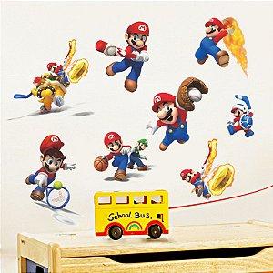 Adesivo Decorativo Mario Bros Sports