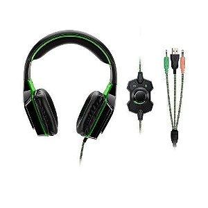 Headset Gamer Dual Shock Led Verde Multilaser - PH180
