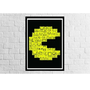 Pôster Emoldurado Pac Man - Meu Game Barato