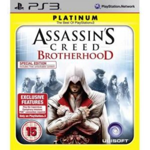 Jogo Assassins Creed Brotherhood Platinum Special Edition- PS3 - Seminovo