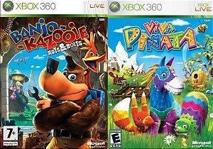 Jogo Banjo-Kazooie Nuts & Bolts e Viva Pinata - Xbox 360 - Seminovo