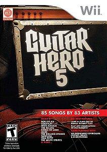 Usado: Jogo Guitar Hero 5 - Wii