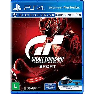 Usado: Jogo Gran Turismo Sport - PS4