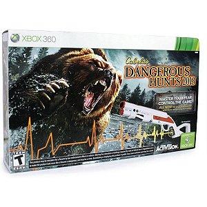 Usado: Jogo Cabelas Dangerous Hunts 2013  - Xbox 360