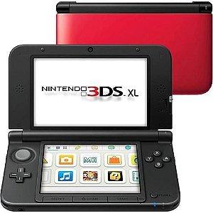 Usado: Console Nintendo 3DS XL - Vermelho