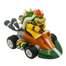 Usado: Carro Fricção Pull & Speed Mario Kart: Bowser - Standard Kart Carrera